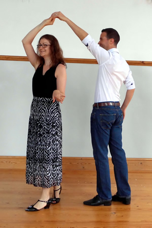 learn to dance latin at the gemini dance studios, lanner, cornwall